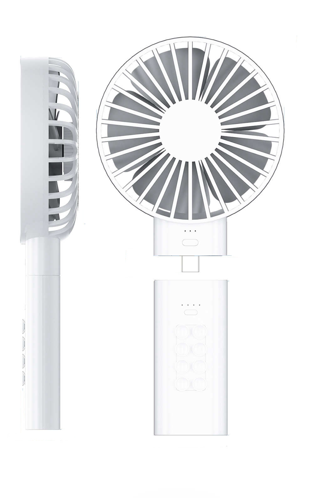 3 Wind Speeds Mode Handheld Personal Fan Battery Operated