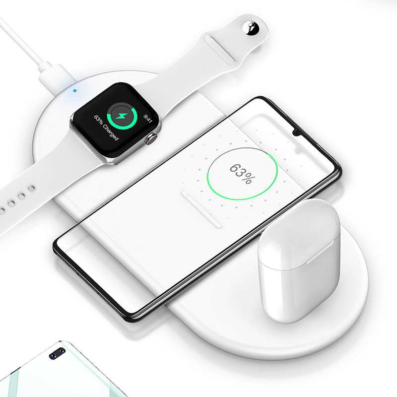 3 In 1 Fireproof ABS PC 10W Car Wireless Charging Pad