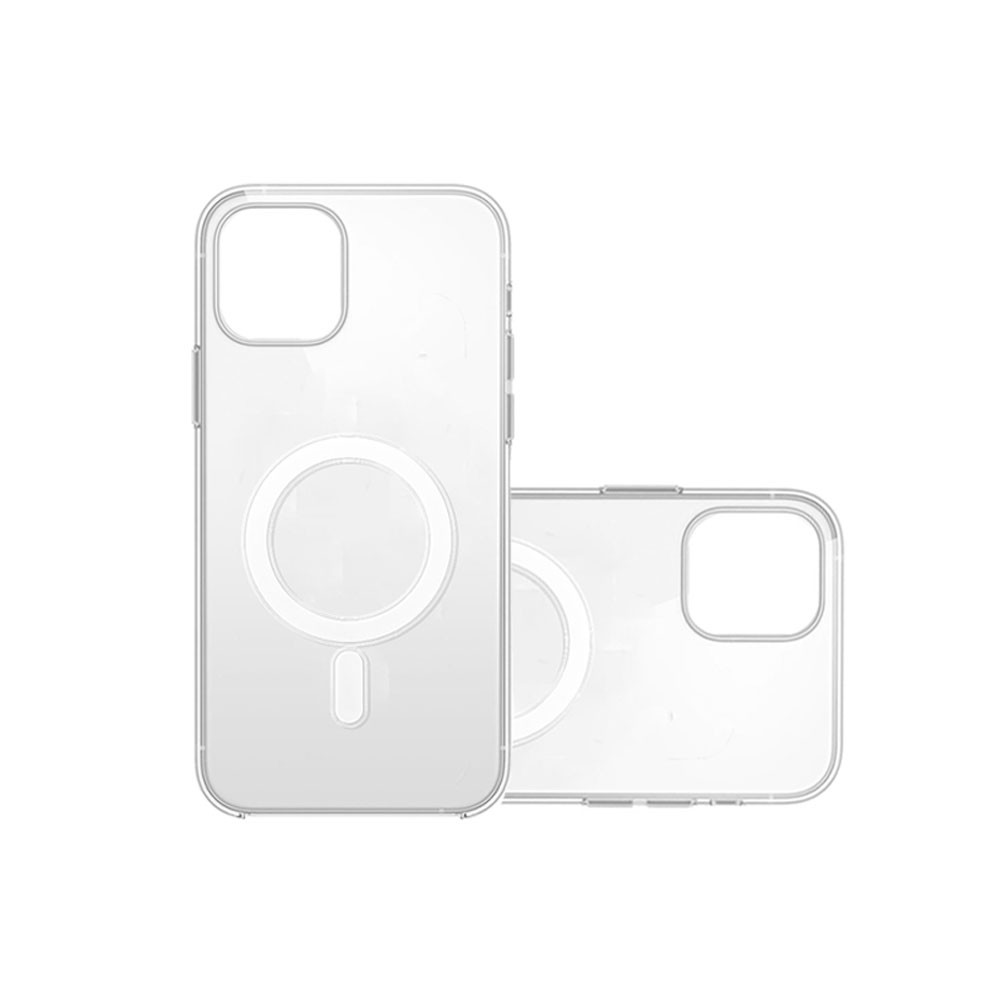 Transparent FCC Qi 4mm Induction Magnetic Phone Case For IPhone12